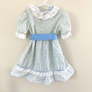 Vintage Little Woods Girls Floral Dress 4-5 Years